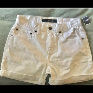 NWT Lands' End White Jean Shorts Size 0